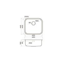 Кухонная мойка Omoikiri Omi 49-U-AB_1