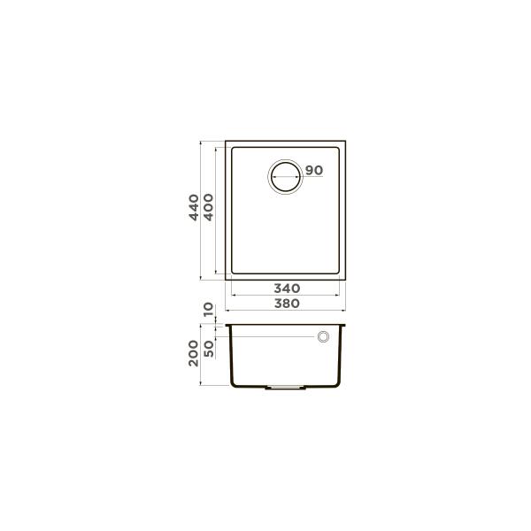 Кухонная мойка Omoikiri Bosen 38-U-WH