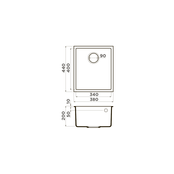 Кухонная мойка Omoikiri Bosen 38-U-СH