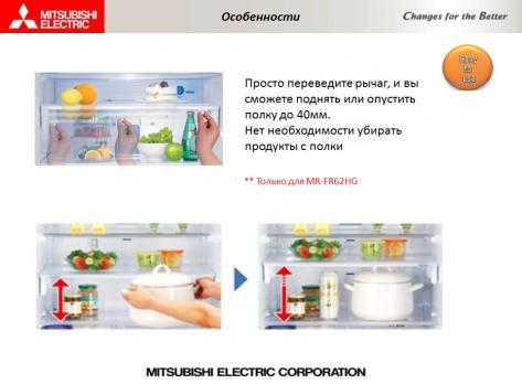 Холодильник Mitsubishi Electric MR-FR62K-BRW-R