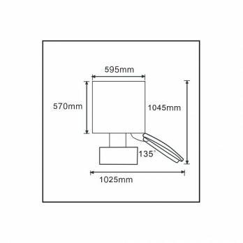 Холодильник-морозильник Korting KNFF 61889 X
