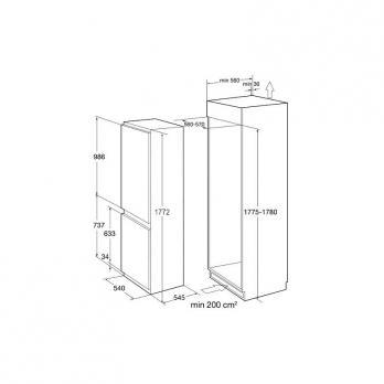 Встраиваемый холодильник-морозильник Korting KSI 17887 CNFZ