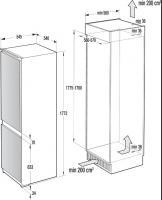 Встраиваемый холодильник-морозильник Asko RF31831I_1