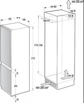 Встраиваемый холодильник-морозильник Asko RF31831I