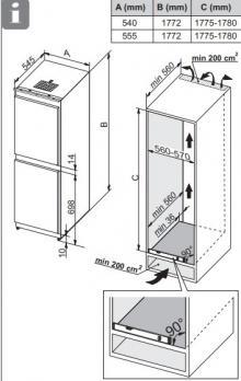 Встраиваемый холодильник-морозильник ASKO RFN31831i