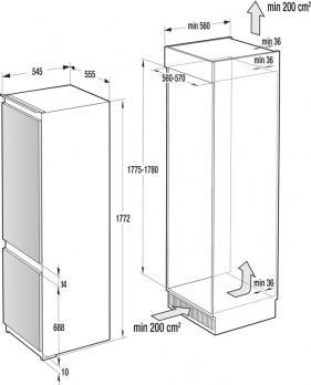 Встраиваемый холодильник-морозильник  ASKO RFN31842i