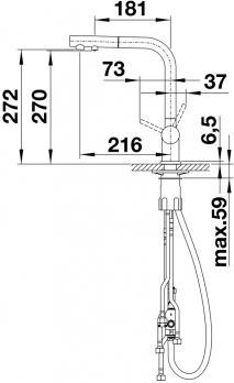 Смеситель для кухни Blanco Fontas-S II Silgranit Алюметаллик