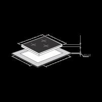 Индукционная варочная панель Maunfeld MVI45.3HZ.3BT-WH_9