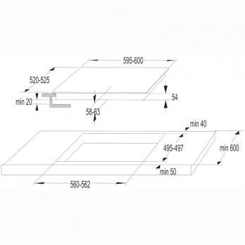 Индукционная варочная панель Korting HI 64042 B