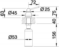 Дозатор Blanco Tiga Хром_3