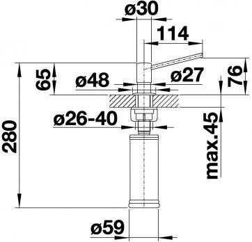 Дозатор Blanco Torre Нержавеющая сталь матовая