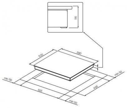 Индукционная варочная панель GRAUDE IK60.1E