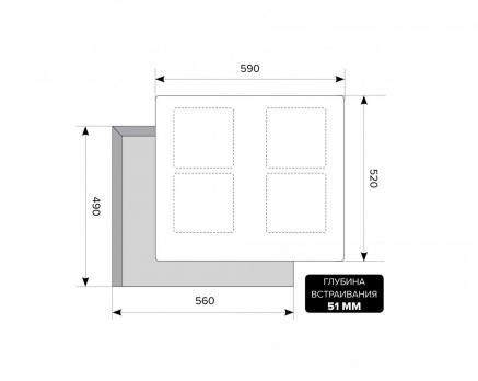 Индукционная варочная панель LEX VI 640 F BL