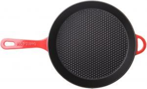 Чугунная сковорода с крышкой KORTING K 1228 R_3