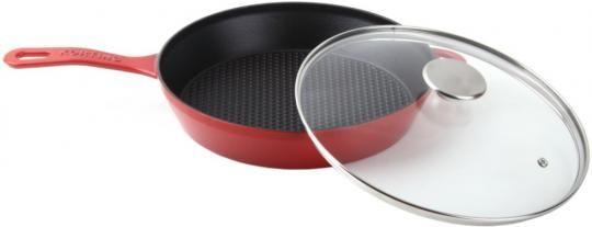 Чугунная сковорода с крышкой KORTING K 1228 R