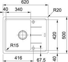 Кухонная мойка Franke Basis BFG 611-62 графит_2