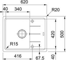 Кухонная мойка Franke Basis BFG 611-62 миндаль_2