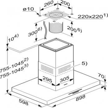 Т-образная островная Miele DA 4208 V D Puristic Varia