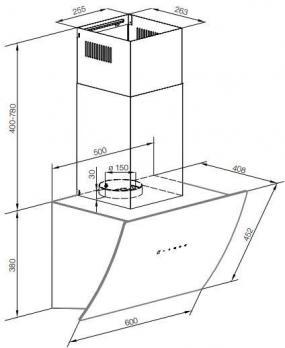 Наклонная вытяжка GRAUDE DH 60.1 GE