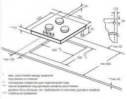 Газовая варочная панель GRAUDE GS 45.1 SM_1