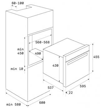 Компактный духовой шкаф Teka HSC 644 C