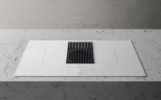 Индукционная варочная панель с интегрированной вытяжкой Elica NIKOLATESLA LIBRA WH/F/83
