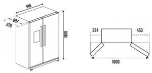 Холодильник-морозильник Side by Side Kuppersbusch KW 9750-0-2 T_2