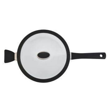 Сотейник с крышкой BergHOFF Eclipse 26см 3,3л black and white