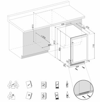 Встраиваемый винный шкаф Dunavox DAU-40.138B