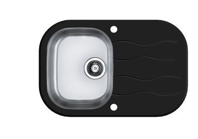 Кухонная мойка Alveus Wave 20 (черное стекло)