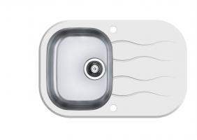 Кухонная мойка Alveus Wave 20 (белое стекло)