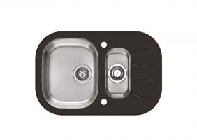 Кухонная мойка Alveus Wave 30 (черное стекло)