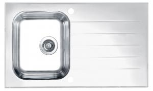 Кухонная мойка Alveus Glassix 10 (белое стекло)
