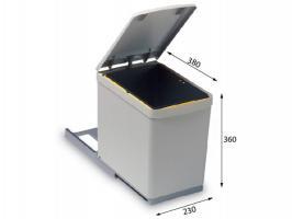 Системы сортировки мусора Alveus Albio 10 1x16L