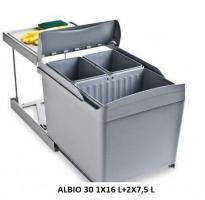 Системы сортировки мусора Alveus Albio 30 1x16L+2x7.5L
