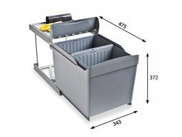 Системы сортировки мусора Alveus Albio 30 2x16L