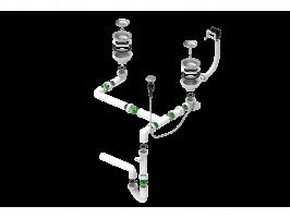 Двойной сифон компактный Alveus 114-PP-114-POPUP (1127257)