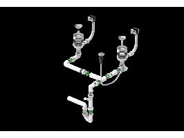 Двойной сифон Alveus 114-PP-114-POPUP (1127258)