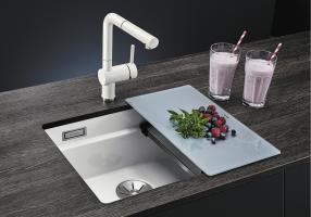 Кухонная мойка Blanco Etagon 500-U Ceramic PuraPlus магнолия_1