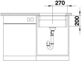 Кухонная мойка Blanco Etagon 500-U Ceramic PuraPlus магнолия_4