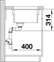 Кухонная мойка Blanco Etagon 500-U Ceramic PuraPlus магнолия_5