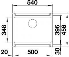 Кухонная мойка Blanco Etagon 500-U Ceramic PuraPlus магнолия_3