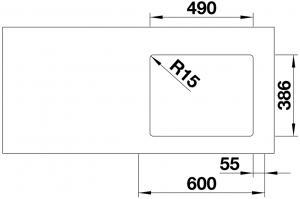 Кухонная мойка Blanco Etagon 500-U Ceramic PuraPlus магнолия_6