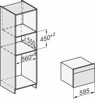 Электрический духовой шкаф с свч Miele H7440BM EDST/CLST_1