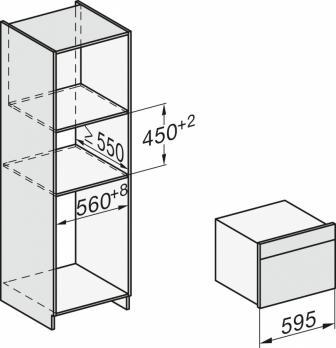 Электрический духовой шкаф с свч Miele H7440BM EDST/CLST