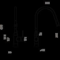 Смеситель для кухни Omoikiri Yatomi-BN-GR_5
