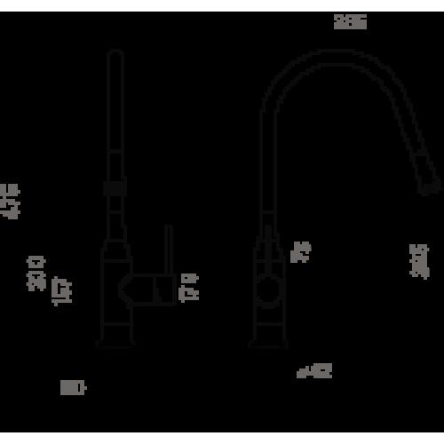 Смеситель для кухни Omoikiri Yatomi-BN-GR