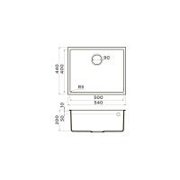 Кухонная мойка Omoikiri Bosen 54-U-WH_4