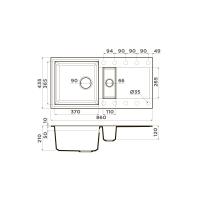 Кухонная мойка Omoikiri Sakaime 86-2-WH_2