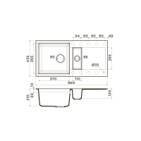Кухонная мойка Omoikiri Sakaime 86-2-DC_2